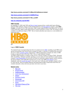 HBO Channel Info