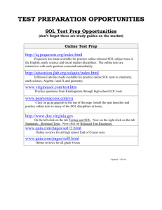 TEST PREPARATION OPPORTUNITIES