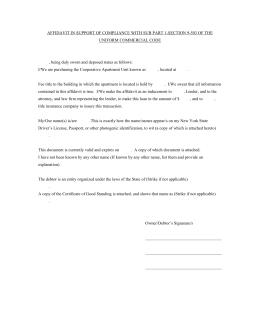Affidavit in word format - The Judicial Title Insurance Agency LLC