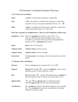 Sharon Hampton 100 Word Vocabulary List Geometry