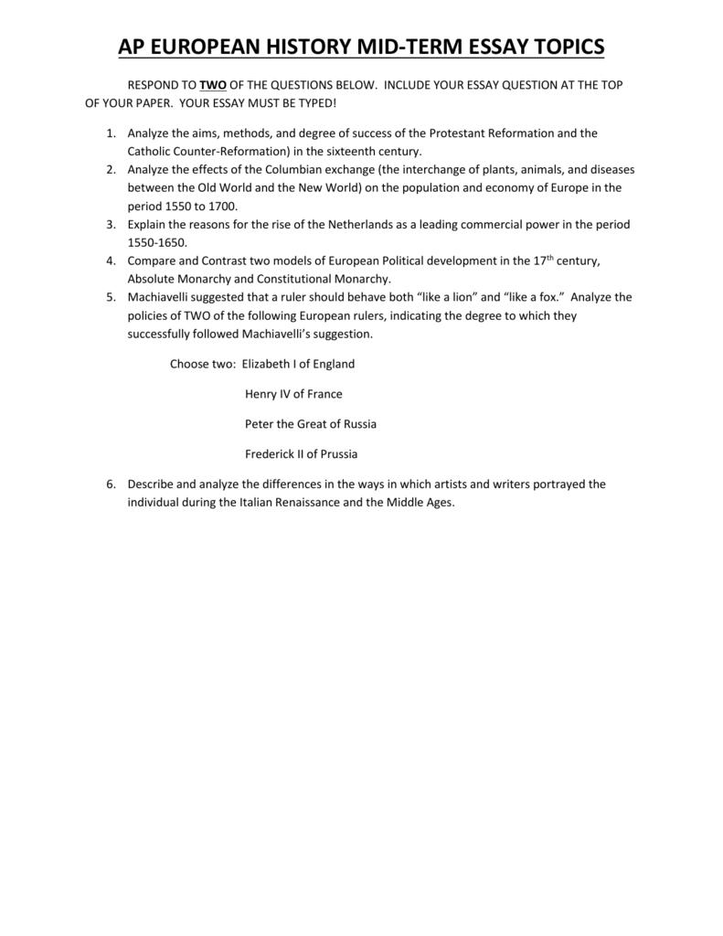 Construct essay test