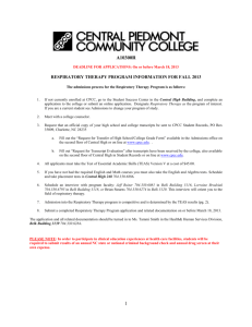 Essential Functions - Central Piedmont Community College