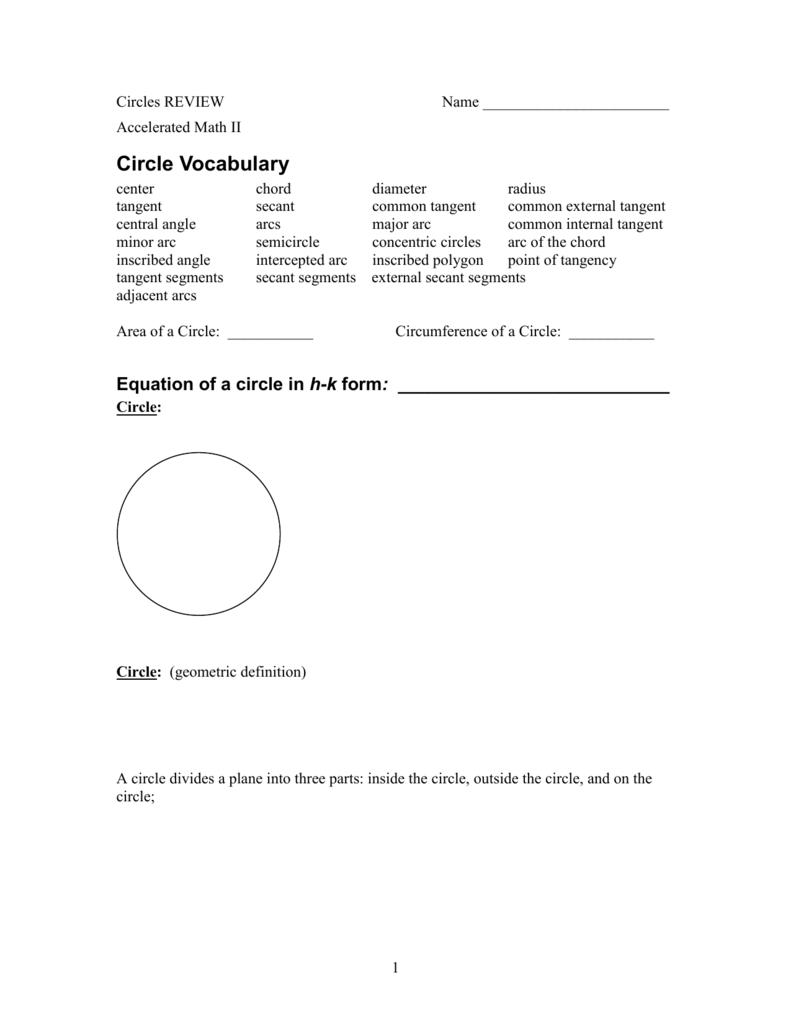 Circles REVIEW