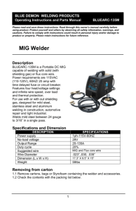 Description - Welding Material Sales, Inc.