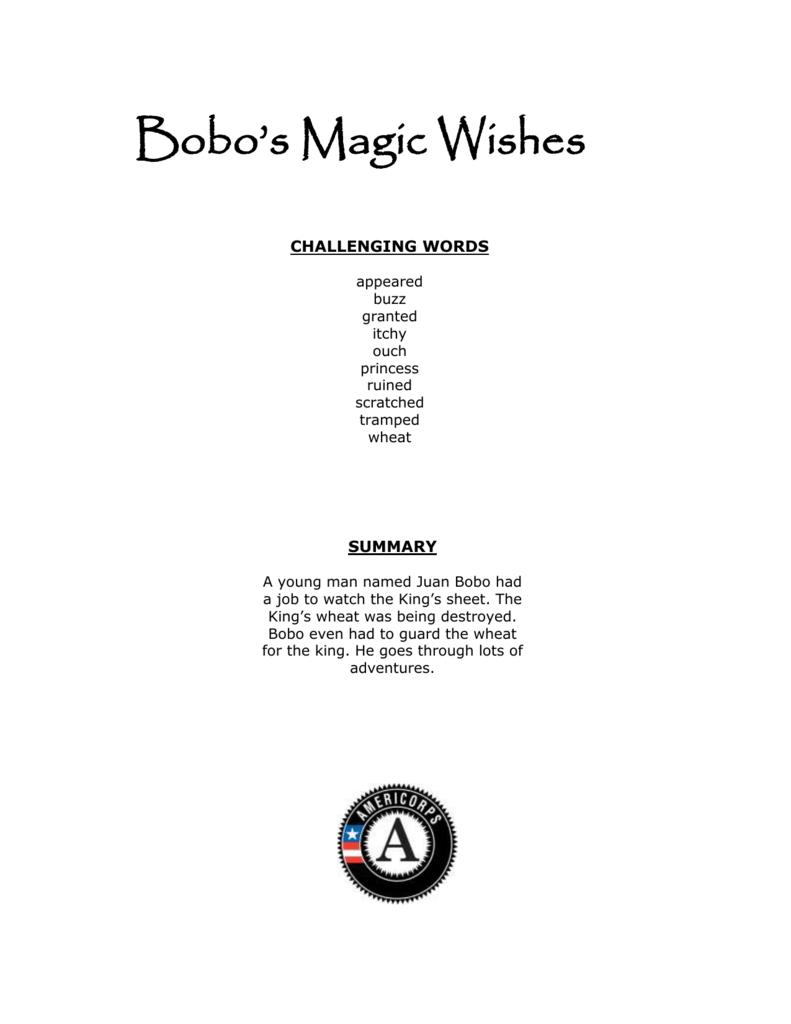 Bobo's Magic Wishes - Kentucky Department of Education