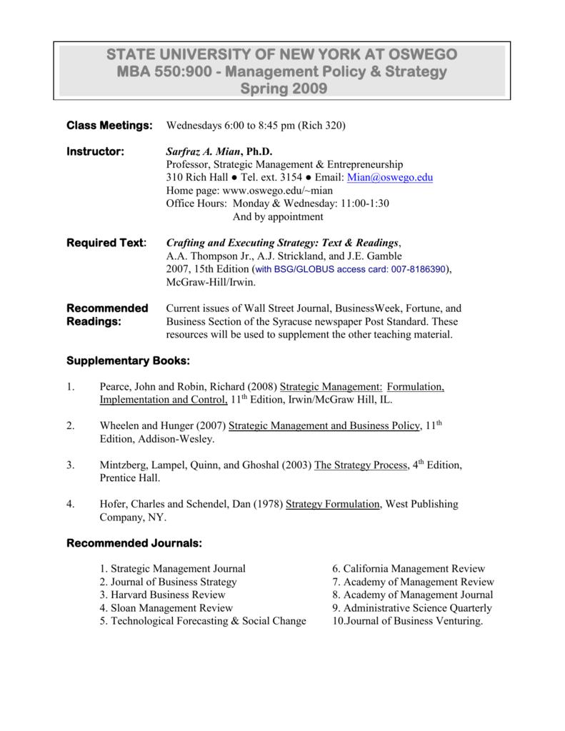 Apr 22: Session #12 - Company Strategic Audit