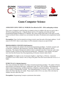 Computer Science Course Descriptions