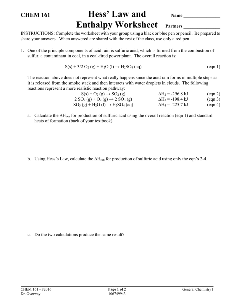Worksheets Hess Law Worksheet pogil ch6c tro