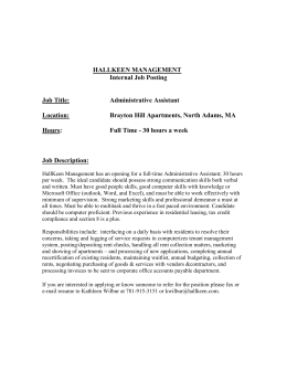 Administrative Assistant - Brayton Hill (Download