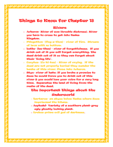 Things to Know for Chapter 18