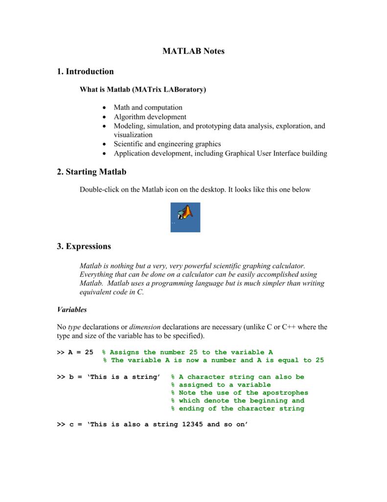introduction-to-matlab programming pdf