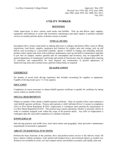 Utility Worker - Los Rios Community College District