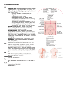 IPC I Gastrointestinal Lesson Plan
