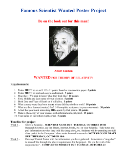 Famous Scientist Wanted Poster Project