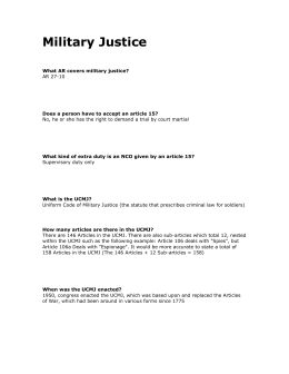 What AR covers military justice