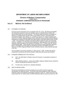 CCR Template - Colorado Department of Labor and Employment