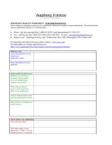 Permission Request Worksheet: Publisher