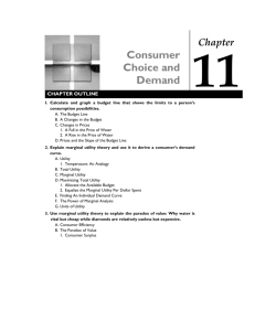 Consumer Choice and Demand