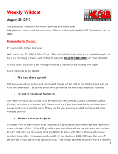 Weekly Wildcat August 30, 2013 This publication highlights the