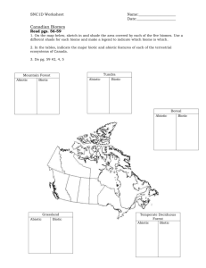 Canadian Biomes