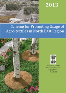 overview of scheme for promoting usage of agrotextiles in north east
