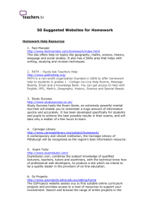 Top websites for helping with homework (Word 114kb)