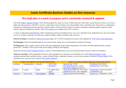 Sample Draft Business Studies Collaborative Resource