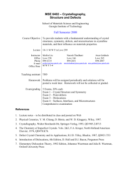 MSE 6010 – Principles of Functional Materials
