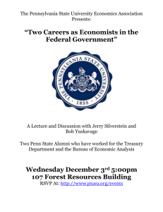 The Pennsylvania State University Economics Association Presents: