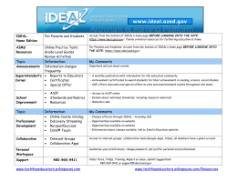 IDEAL overview handout - AZ Education Technology Resource
