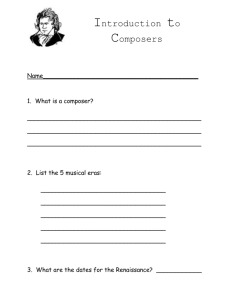 Introduction to Composers