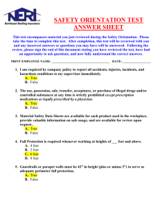 Test Answer Sheet