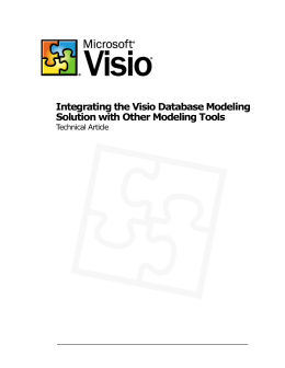 Integrating the Visio Database Modeling Solution with