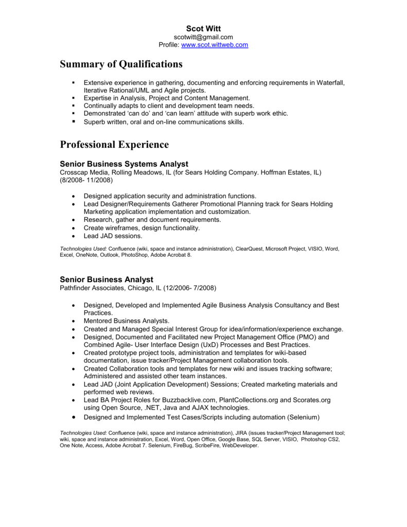 resume - WittWeb