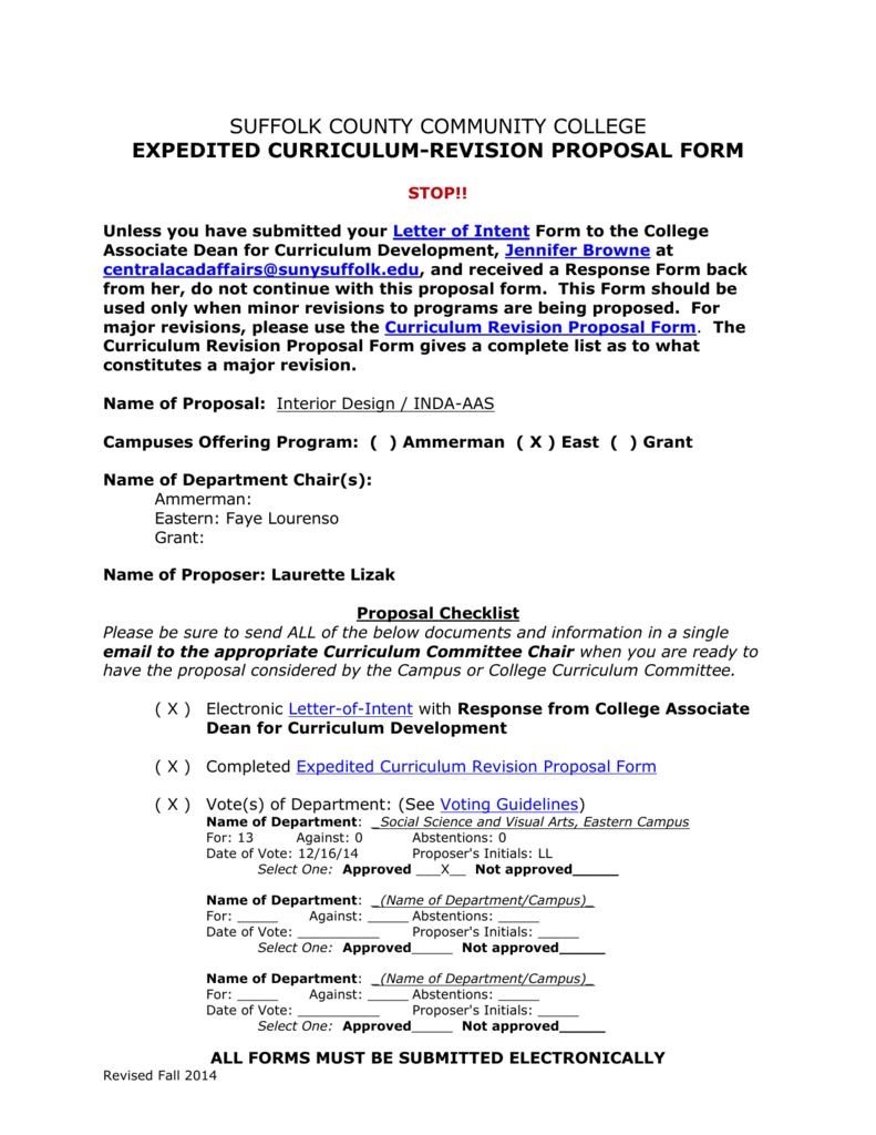 Format For New Course Curriculum Proposals New Page