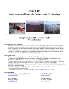 GISAT 112 Environmental Issues in Science and Technology