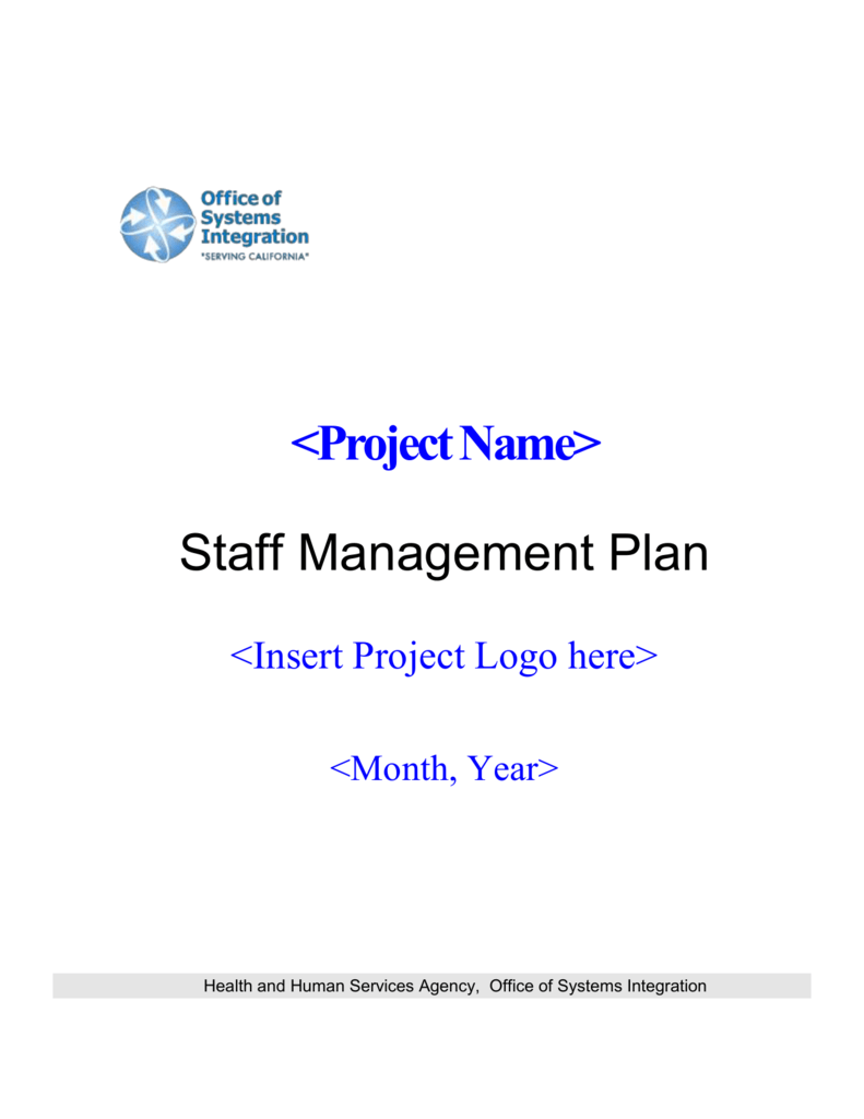Staff Management Plan Template