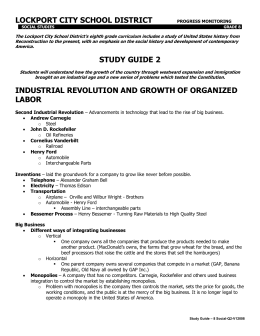 Quarterly Study Guide w/ Practice Quiz