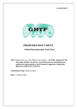 GHTF SG2 Where to Send Adverse Event Reports