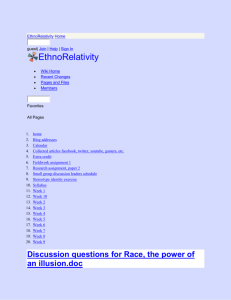 EthnoRelativity - Discussion questions for Race, the power of an
