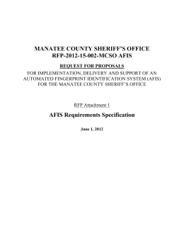 MCSO/SCSO Technical Requirements Specification