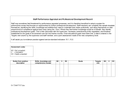 Staff Performance Appraisal and Professional Development Record