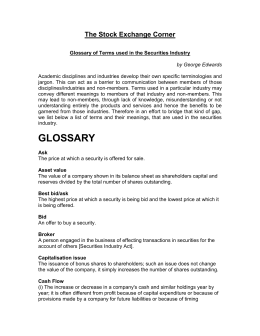 Glossary - 1 (Published 9.12.2005)