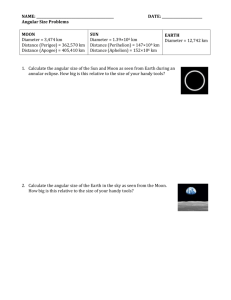 Angular Size Homework 2013