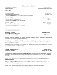 Curriculum Vitae - North South University