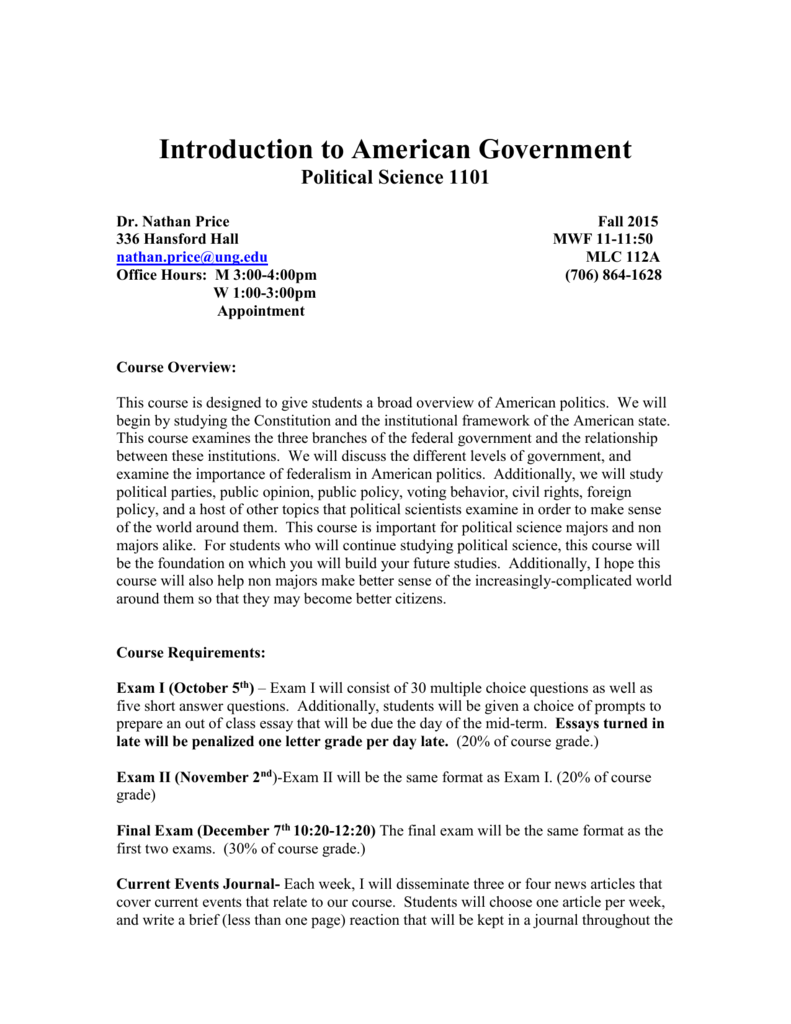 political science final exam answers