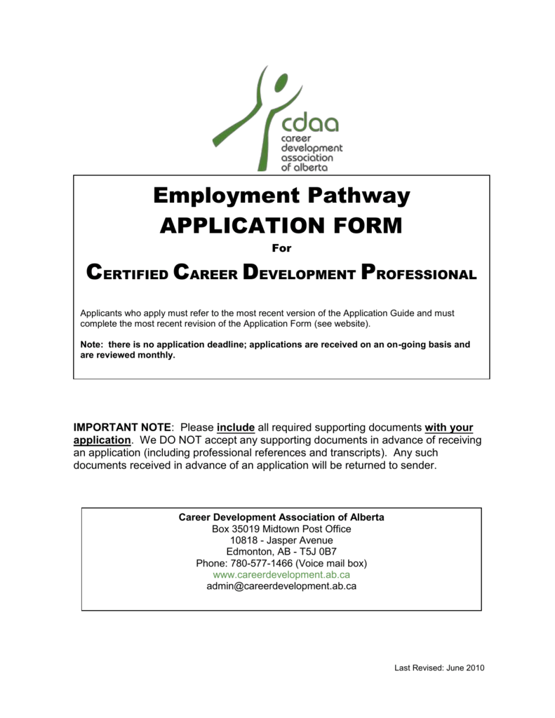 Employment Pathway Word Career Development Association Of