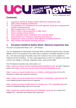 Health and safety news 41, Sep 10