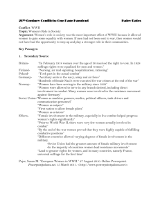 20th Century Conflicts: One Page Handout Haley Bates Conflict
