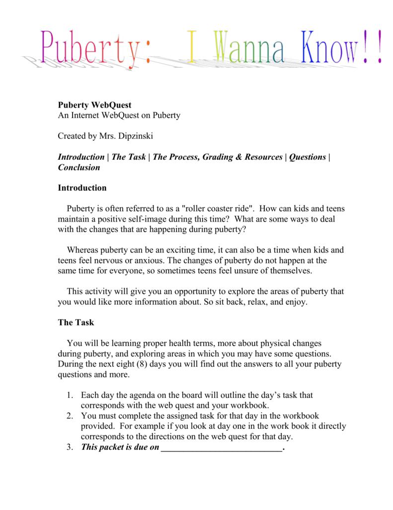 Worksheets Puberty Worksheets puberty web quest